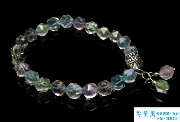 【旭笙風】天然托帕石、多寶水晶「創意設計手飾」少女簡易風~