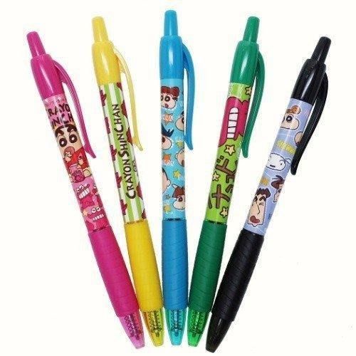 《現貨在台》日本CRAYON SHINCHAN蠟筆小新彩色中性5色筆/A款