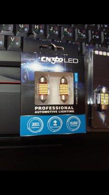 C5W Festoon 雙尖 led 31mm 6000k 6700k osram neolux philips , 36mm canbus 解碼款 1.3w