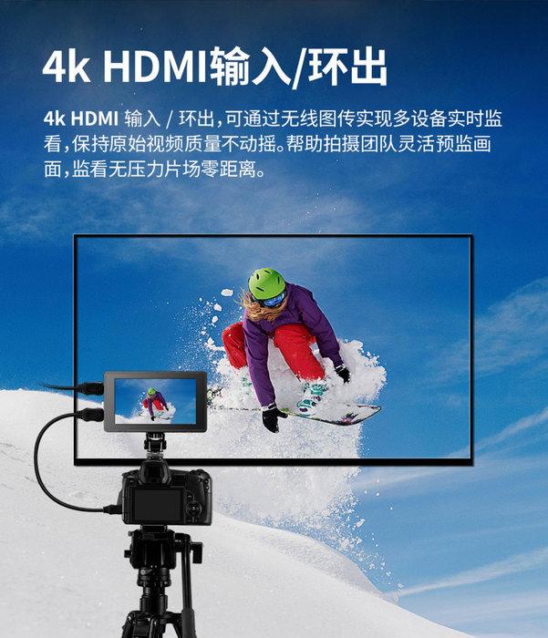 神牛 Godox GM55 觸控式 監看螢幕 4K HDMI 5.5吋 160度廣角 支援示波器 色彩空間 攝影