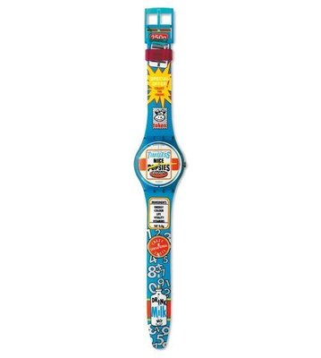 Swatch  GOOD MORNING 限量錶 設計品牌 附盒 保証書 (GN156)