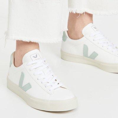 VEJA 小白鞋 Campo 淺綠色V淺綠色尾 艾瑪華森 梅根王妃 劉詩詩 親愛的自己 35 ~ 43