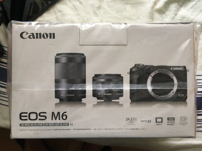 EOS M6 (黑色)+EF-M 15-45mm+EF-M55-200mm