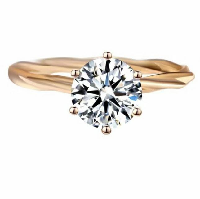 新款求婚戒指鑽戒1克拉圓夢鑽石高碳鑽媲美真鑽肉眼難辨戒指藤蔓六爪鉑金質感 十心十箭極光仿真鑽石ZB莫桑鑽寶超取免運購物愉快有保障