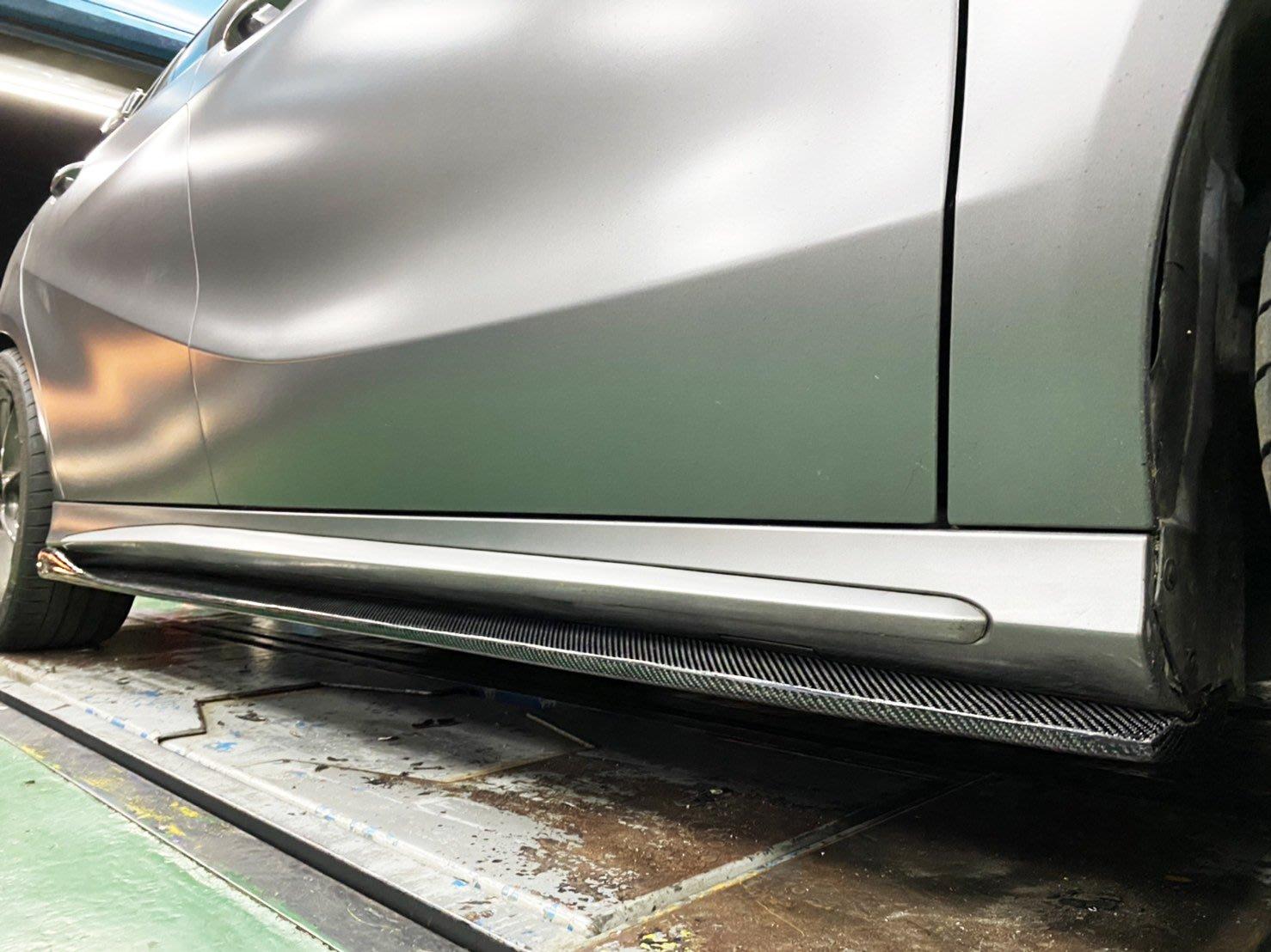 CS車宮車業 BENZ W176 A250 A45  卡夢側裙 碳纖維側裙