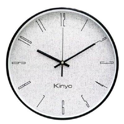 KINYO CL-182 簡約12吋布紋掛鐘 新北市