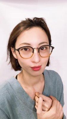 【本閣】Matsuda M2023 日本復古手工光學眼鏡框 中金大圓男女雙色 增永金子 nativesons 999.9