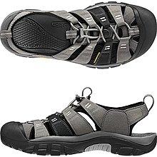 =CodE= KEEN NEWPORT H2 SANDALS編織彈性綁繩護趾防水包頭涼鞋(灰黑)1012204 拖鞋 男