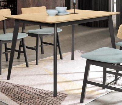 【風禾家具】FQM-969-1@KRL洗白色4尺餐桌【台中3700送到家】餐台 工作桌 實木皮 實木腳 北歐風 傢俱