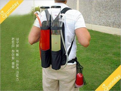 = 天 . 氣 . 晴 = [2062]戶外賽事必備品  Backpack Drinks Dispenser雙筒外帶酒機