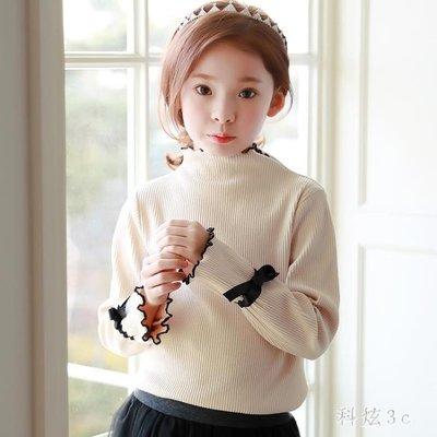 大尺碼女童長袖t恤 新款韓版兒童純棉休閒秋季打底衫薄款洋氣上衣 js13309