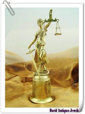 ((天堂鳥)) Justitia正義女神銅雕