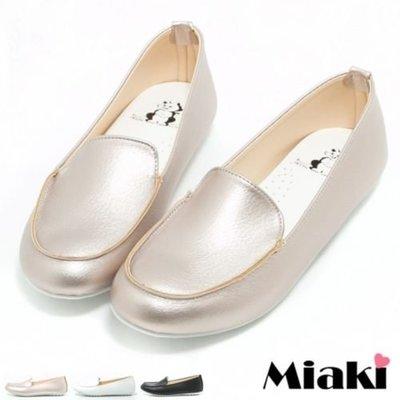 休閒鞋韓版流行平底樂福包鞋【S16L054】Miaki