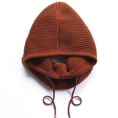 毛帽 羊毛針織帽-條紋純色護耳套頭女帽子6色73wj6[獨家進口][米蘭精品]
