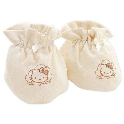 GIFT41 4165本通 三重店 Hello Kitty 凱蒂貓 有機棉 嬰兒腳套 100%有機棉 K7201-4710482072018