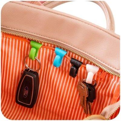 ☜shop go☞【F002】創意防丟包包內掛鉤 內置鑰匙夾 方便攜帶鑰匙扣 鑰匙掛勾 小物收納 2入裝 防丢包掛勾包包