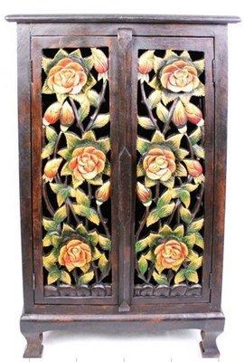 INPHIC-東南亞 家居飾品 泰式飯店 會所 木雕 小傢俱 櫃子 雕六花