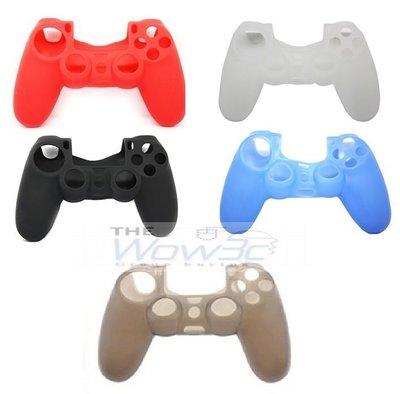全新 PS4 遊戲 手把 握把 搖桿 控制器 保護套 矽膠套 果凍套 黑 白 藍 紅 灰 五色