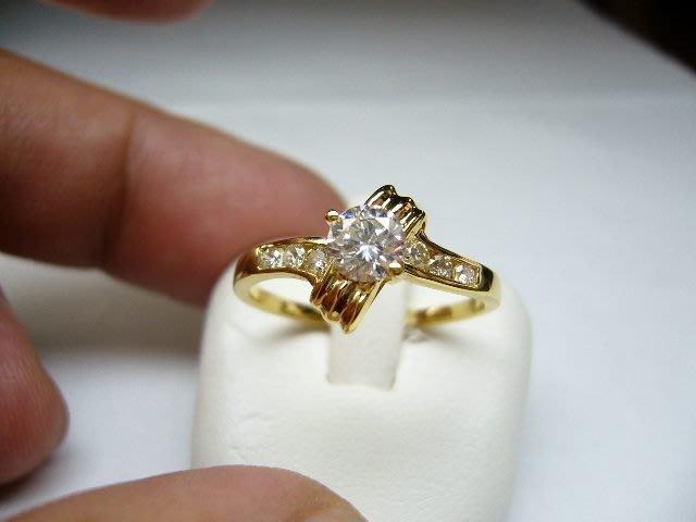 [吉宏精品交流中心]44分 南非天然鑽石 黃K金 造型 戒指