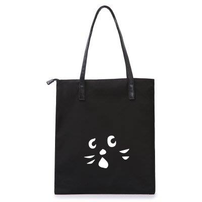 ♥小花日韓雜貨 ♥ -- 黑色貓咪休閒手提包購物包非NE NET
