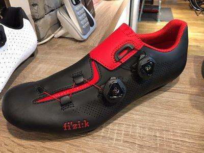 小晢居 義大利精品 fizik fizi:k R3 ARIA 卡鞋 自行車鞋 公司貨 好穿透氣 特價 黑紅色