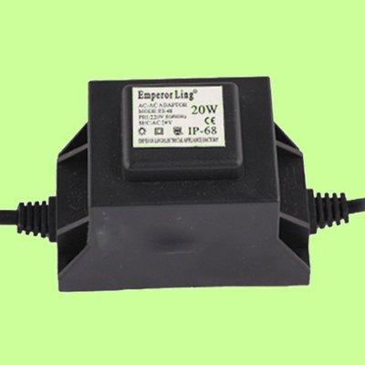 5Cgo【權宇】AC 220V 110V兩選一轉AC 12V 24V二選一IP68防水LED水底燈專用30W變壓器含稅