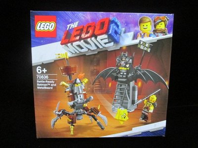 (STH)LEGO 樂高 玩電影2-Battle-Ready Batman and MetalBeard 70836