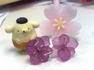 保鮮花耳環 - 單粒