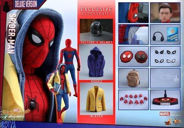 HOT TOYS 蜘蛛人 豪華版 MMS426 蜘蛛人:返校日 復仇者聯盟