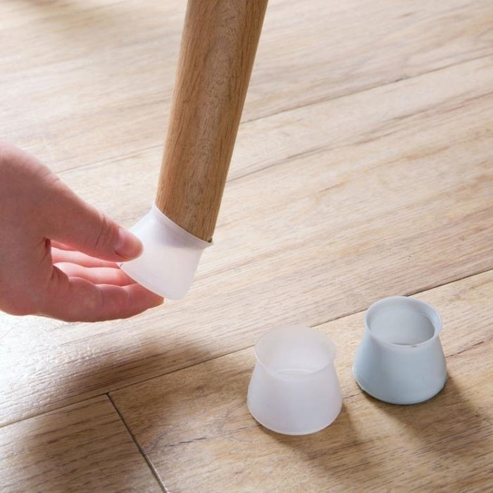 【暖暖居家】桌腳套 硅膠桌椅腳套桌腳墊桌腿保護套 椅子保護墊凳子靜音椅腳墊-免運費