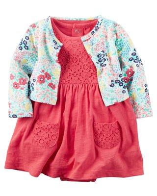 現貨【Babs closet】全新Carter′s美國正品 女寶寶短袖洋裝+碎花小外套二件組24M 桃園市