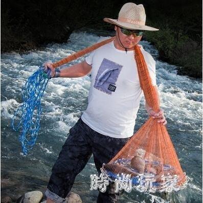 YEAHSHOP 捕魚網 飛盤式手拋網魚網捕魚美Y185