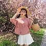 小香風 短袖T恤 時尚穿搭 女裝 韓版 小清新花朵刺繡短款寬松棉麻短袖T恤半袖打底衫上衣
