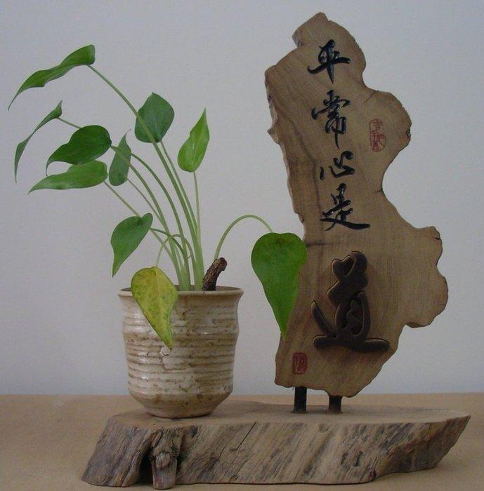 (禪智木之藝)立體字木雕 樟木 立體字 雕刻 立體雕刻藝術 工廠直營-平常心是(道)