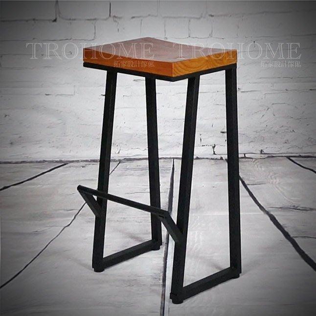 【拓家工業風家具】LOFT鐵製斜腳吧檯椅/升降椅工業風旋轉椅吧台椅高腳椅酒吧椅/美式復古作舊咖啡店民宿
