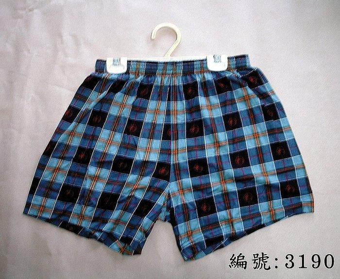 短褲台灣製紅螞蟻平口褲100%絲光棉編號3190、3192