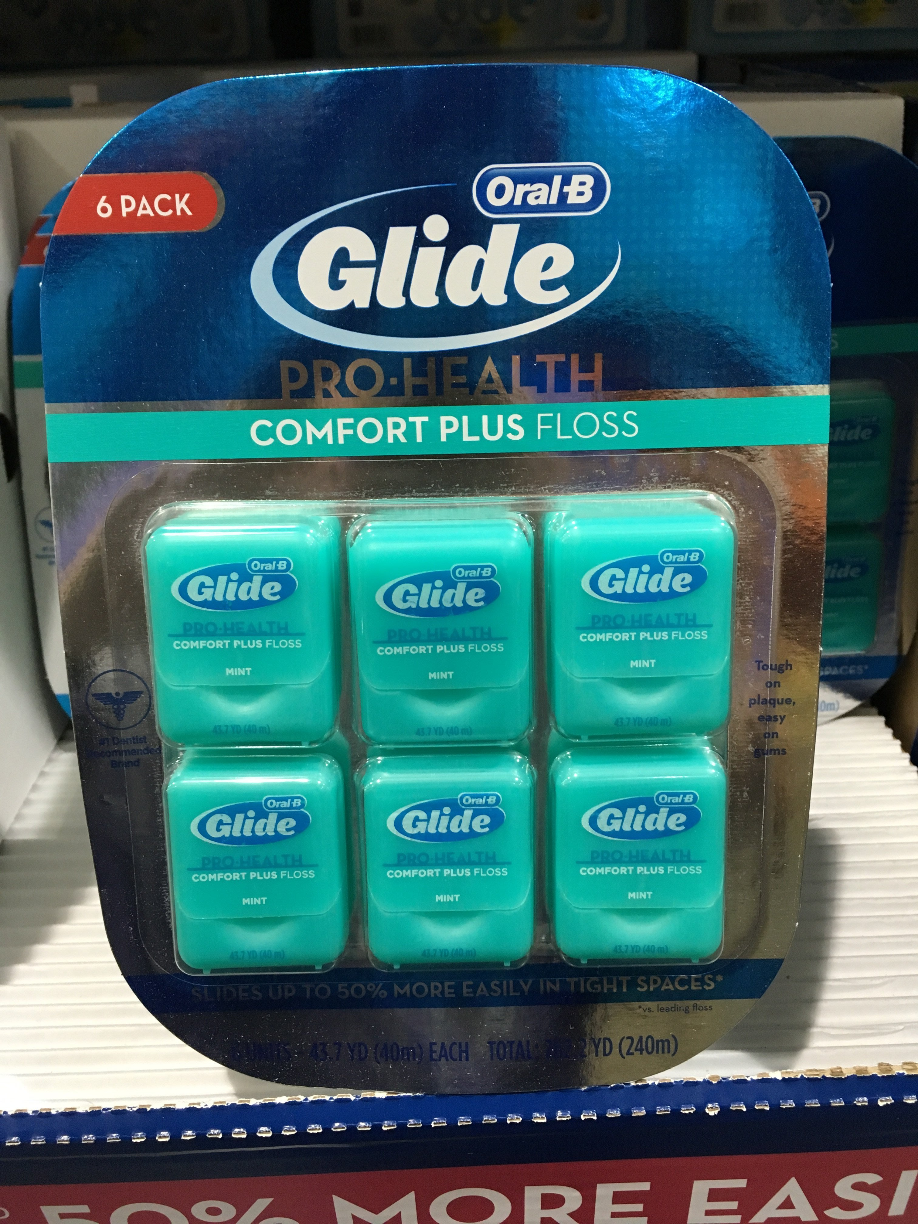 【日日小舖外送代購】好市多 o新包裝o Glide 清潔舒適牙線 薄荷口味每組40公尺*6入