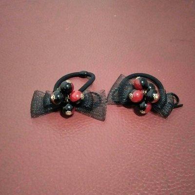 紅黑珠蝴蝶網結髮繩 基隆市