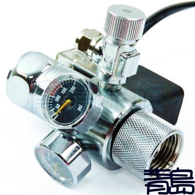 六月缺B。青島水族。台灣LT-----迷你雙錶電磁閥 控制器 直立式==銀天使迷你雙錶型(上路/免板手)