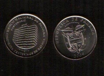 PANAMA(巴拿馬紀念幣),1/2-BAL ,K-NEW,2009央行百年,品相全新UNC