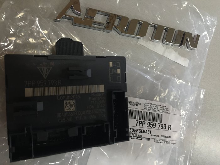 AEROTUN 保時捷 PORSCHE 原廠 Panamera 車門模組電腦  料號: 7PP959793R。