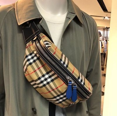 Burberry belt bag 新款格紋腰包