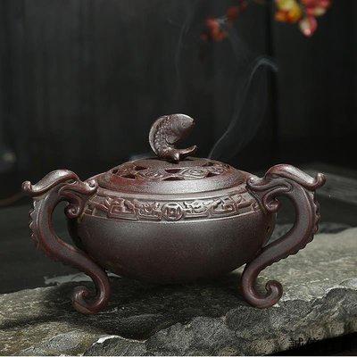 倒流香爐 香托 香盤 擺件 香爐家用室內供佛大號仿古香薰爐創意茶道供奉佛具用品擺件