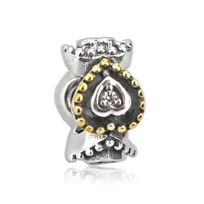 凱莉代購 S925純銀新款手鍊diy珠子配件鑲鑽愛心隔離珠  預購特價