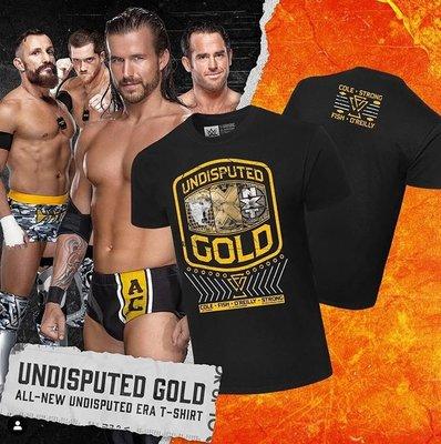 [美國瘋潮]正版WWE Undisputed Era Undisputed Gold Tee 無庸置疑軍團NXT黃金衣服