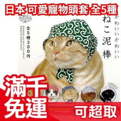 【頭巾貓咪】 2015年款日本 可愛寵物頭套 整套5種 扭蛋轉蛋 喵星人 娃娃造型裝飾帽 療癒交換禮物❤JP Plus+