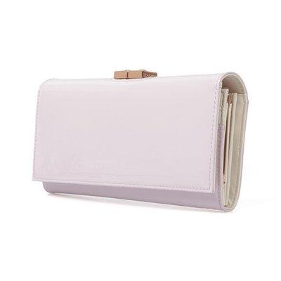 現貨 Ted Baker Kodee 粉色 方型扣頭設計真皮長皮夾 英國正品代購 3850 含運 英國減價中
