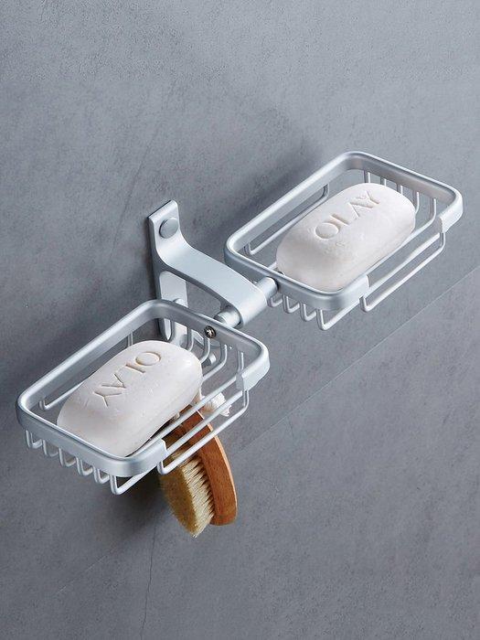 千夢貨鋪-免打孔太空鋁浴室置物肥皂盒肥皂網創意壁掛肥皂架香皂盒#水龍頭#花灑#浴室#廚房#鋁合金