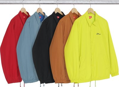 【GIANT MALL】現貨SUPREME 2017 F/W ARABIC LOGO COACH JACKET 教練外套