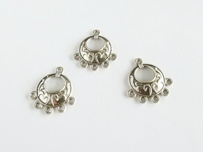 【綺妹手創雜貨】銀色 圓形5掛垂吊飾《E402》 1個6元 串珠配件 高雄市